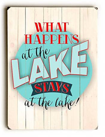 What Happens at the Lake Wood Sign - Premier Home & Gifts
