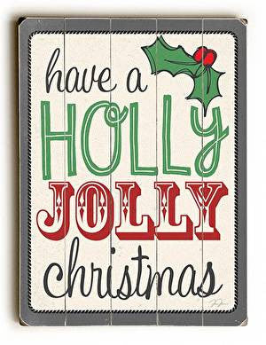 Holly Jolly Christmas Wood Sign