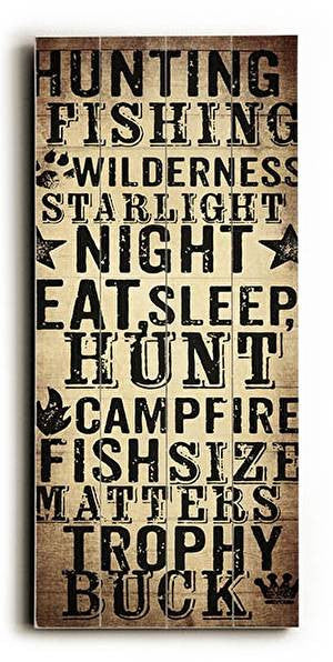 Hunting & Fishing Wood Sign