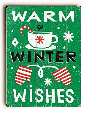 Warm Winter Wishes Wood Sign
