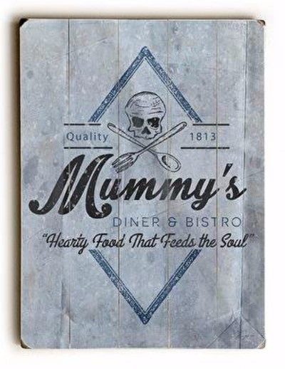 Mummy's Diner Wood Sign