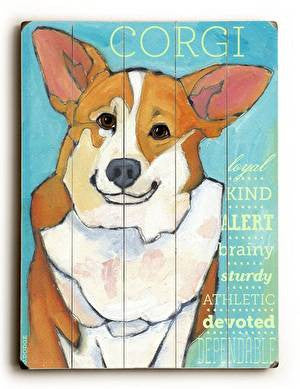 Corgi Wood Sign