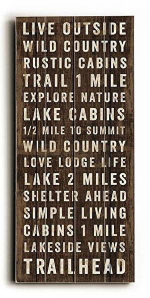 Simple Living Wood Sign