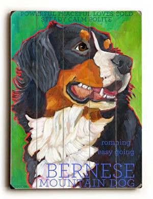 Bernese Wood Sign