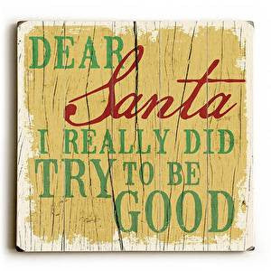 Dear Santa Wood Sign