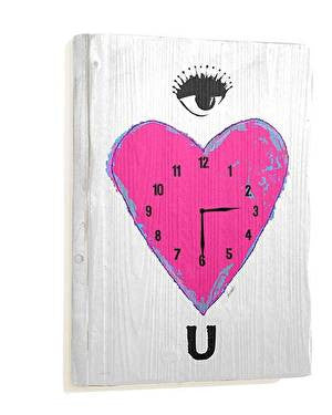 Eye Heart U Wall Clock