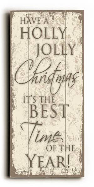 Holly Jolly Wood Sign