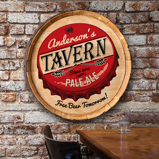 Free Beer Barrel Sign - Premier Home & Gifts