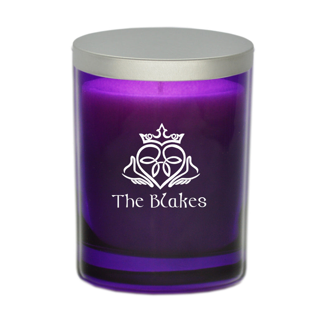 Claddagh & Celtic Name Candle - Amethyst