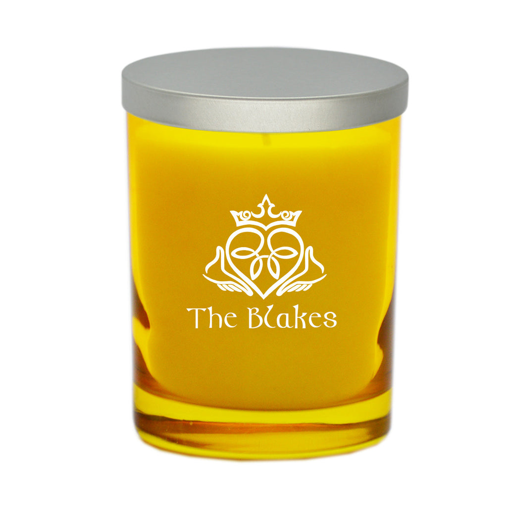 Claddagh & Celtic Name Candle - Citrine