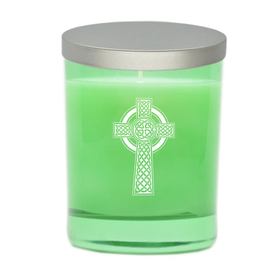 Celtic Cross Candle - Emerald
