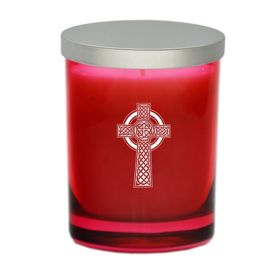 Celtic Cross Candle - Ruby