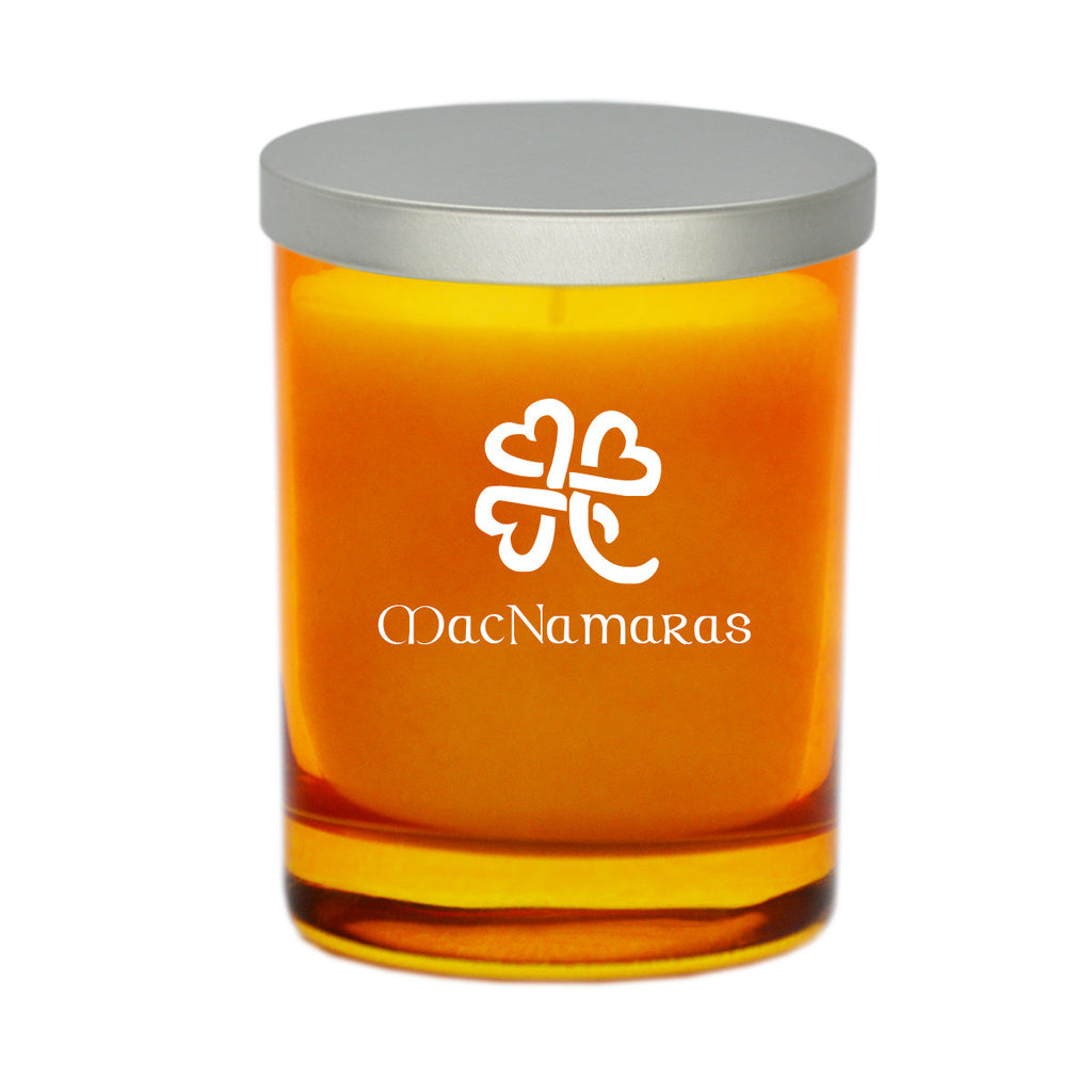Heart Clover with Celtic Name Candle