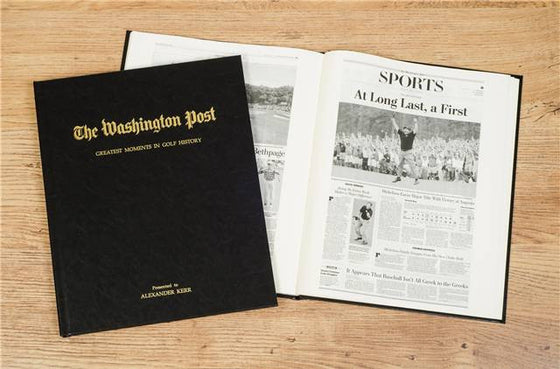 A History of Golf Newspaper Book - Personalized