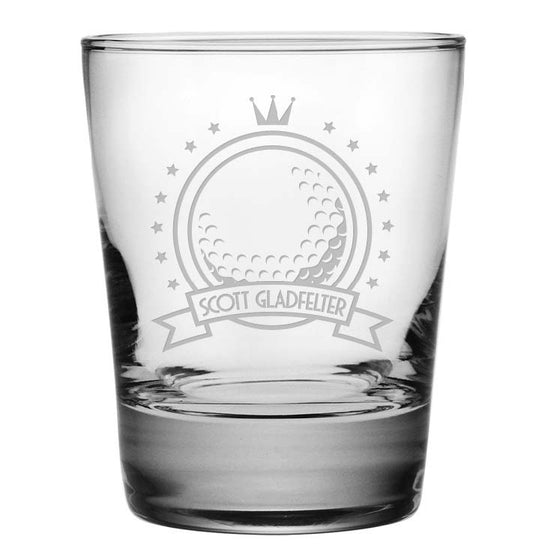 Golf Double Old Fashioned Glasses - Personalized