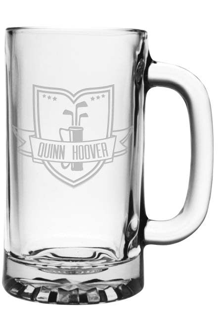 Golf Beer Mug - Personalized - Set of 4