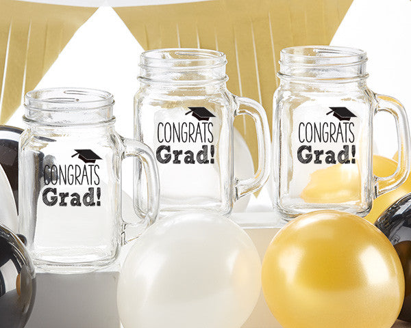 Congrats Grad Mason Jar Set of 4