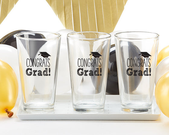 Congrats Grad Pint Glass Set of 4