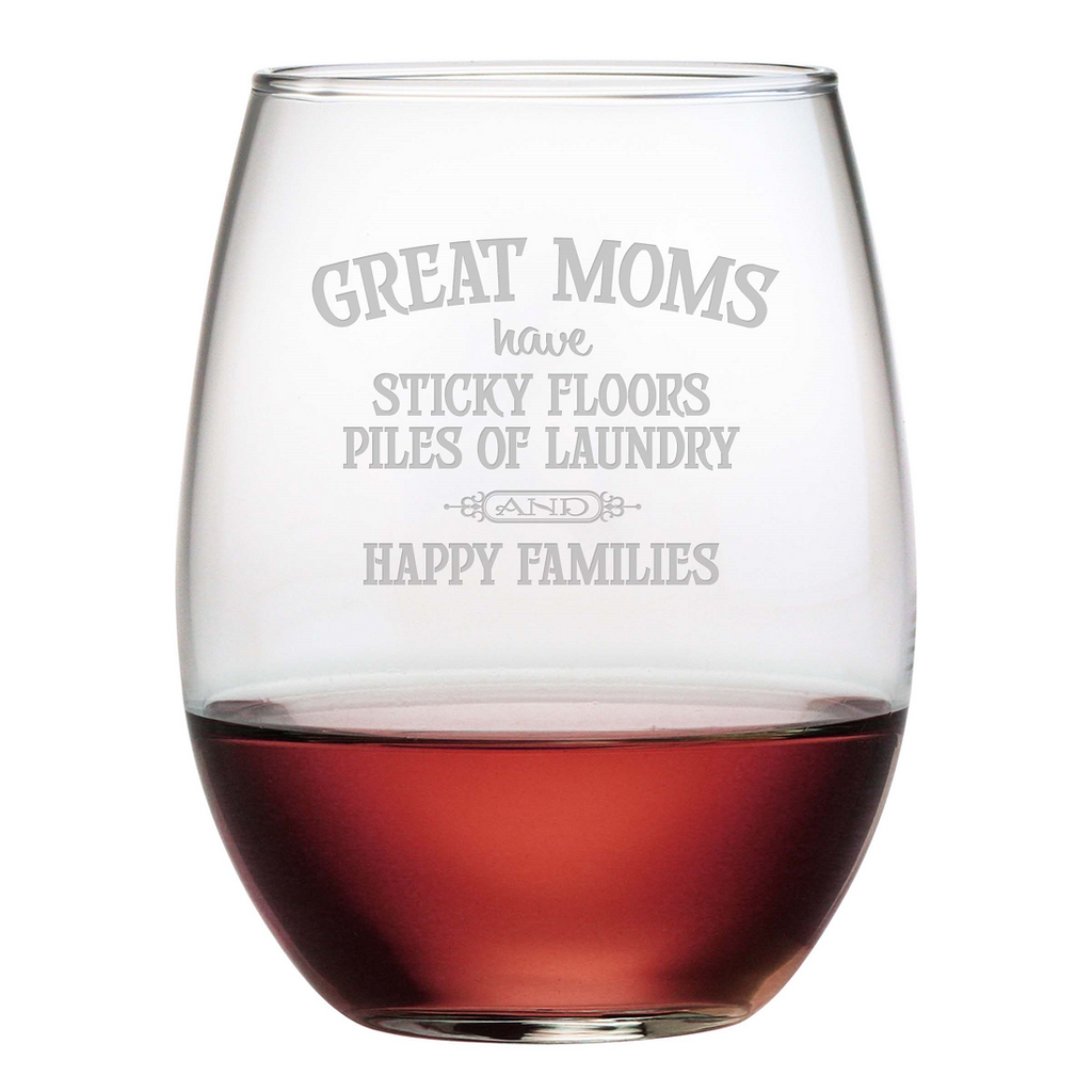 Great Moms Stemless Wine Glasses - Set of 4 - Premier Home & Gifts