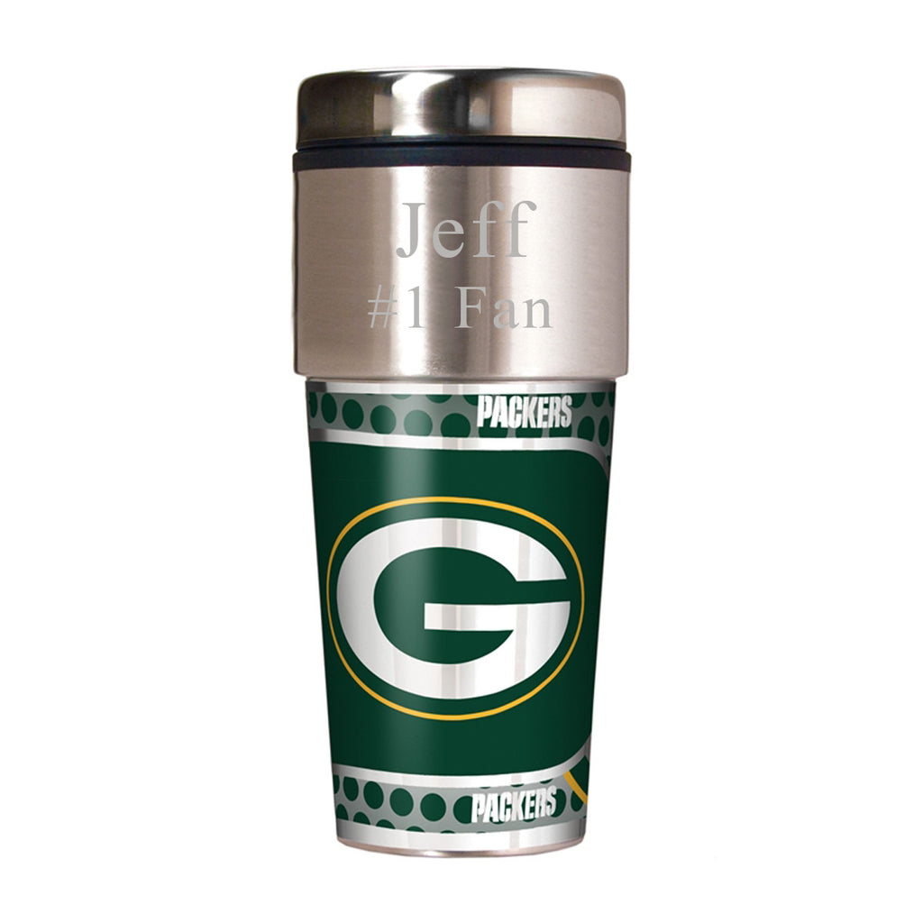 NFL Travel Tumbler ~ Engraved - Green Bay Packers