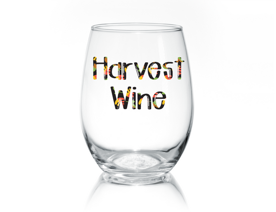 Harvest Wine Stemless Glass