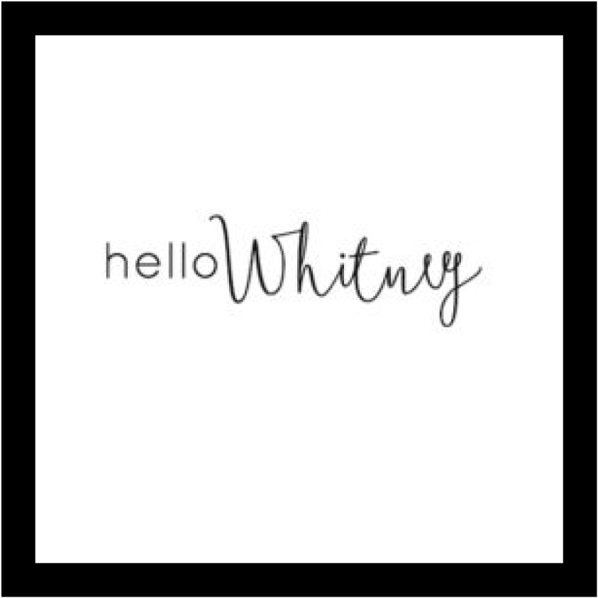 Hello Whitney - Custom Personalized Candle