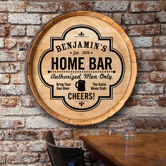 Home Bar Barrel Sign - Premier Home & Gifts