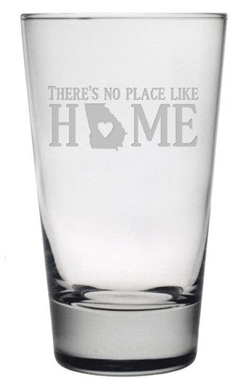 No Place Like Home Highball Glasses ~ Set of 4