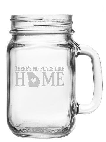 No Place Like Home Mason Jars ~ Set of 4