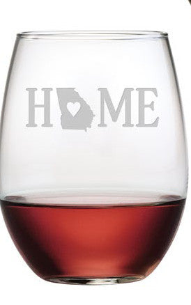 Home State Stemless Wine Glasses ~ Set of 4