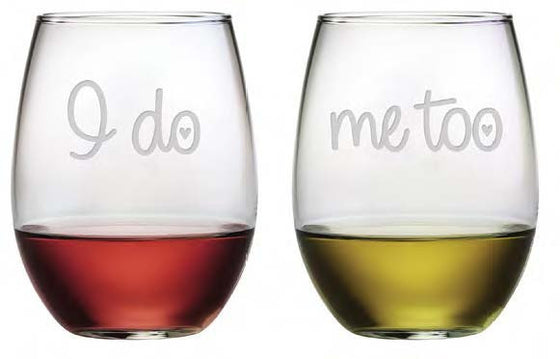 I Do Me Too Stemless Wine Glasses