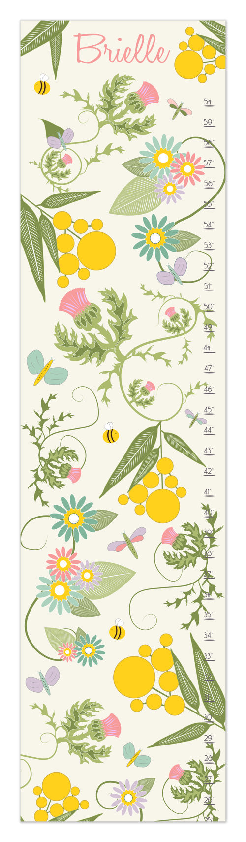 Garden Personalized Growth Chart - Nursery Decor - Children's Gifts