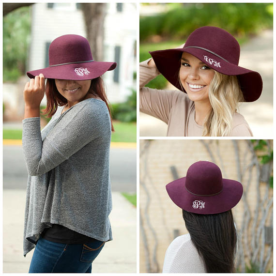 4c0261d3e2d ... Floppy Wool Hat - Wine