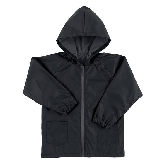 Kids' Rain Jacket - Black - Monogrammed Kids Gifts