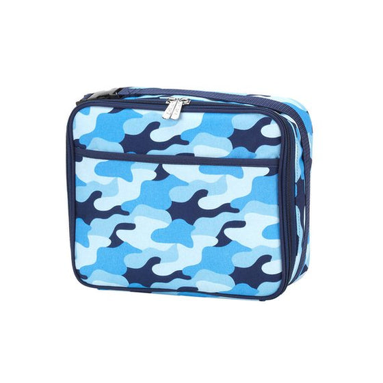 Blue Camo Personalized Lunch Bag