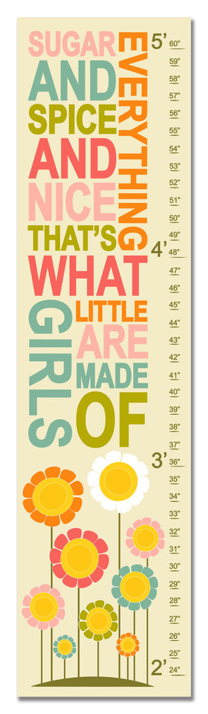Sugar and Spice Personalized Growth Chart