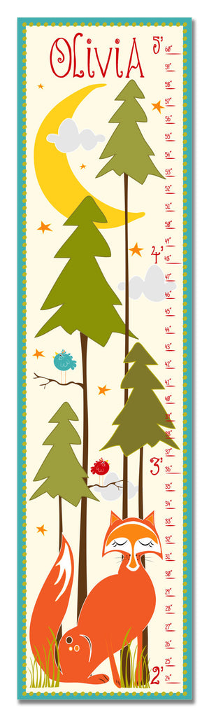 Woodland Fox Personalized Growth Chart