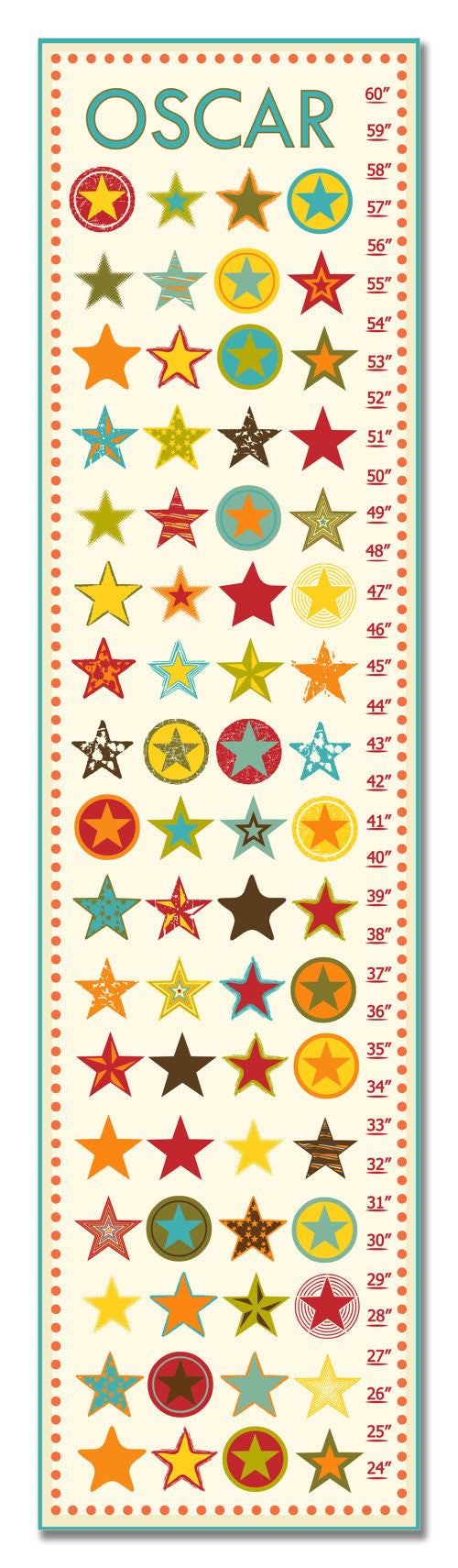 Stars Personalized Growth Chart