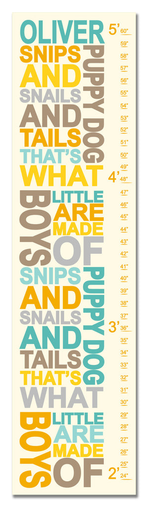Snips and Snails Personalized Growth Chart