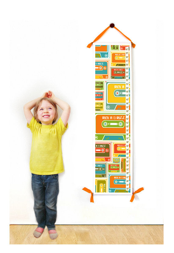 Cassette Tape Personalized Growth Chart - Children's Room Decor
