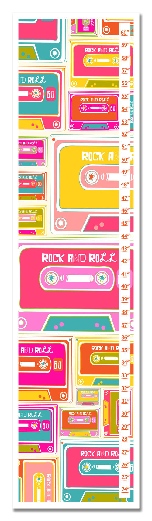 Cassette Tape Personalized Growth Chart - Gifts for Children