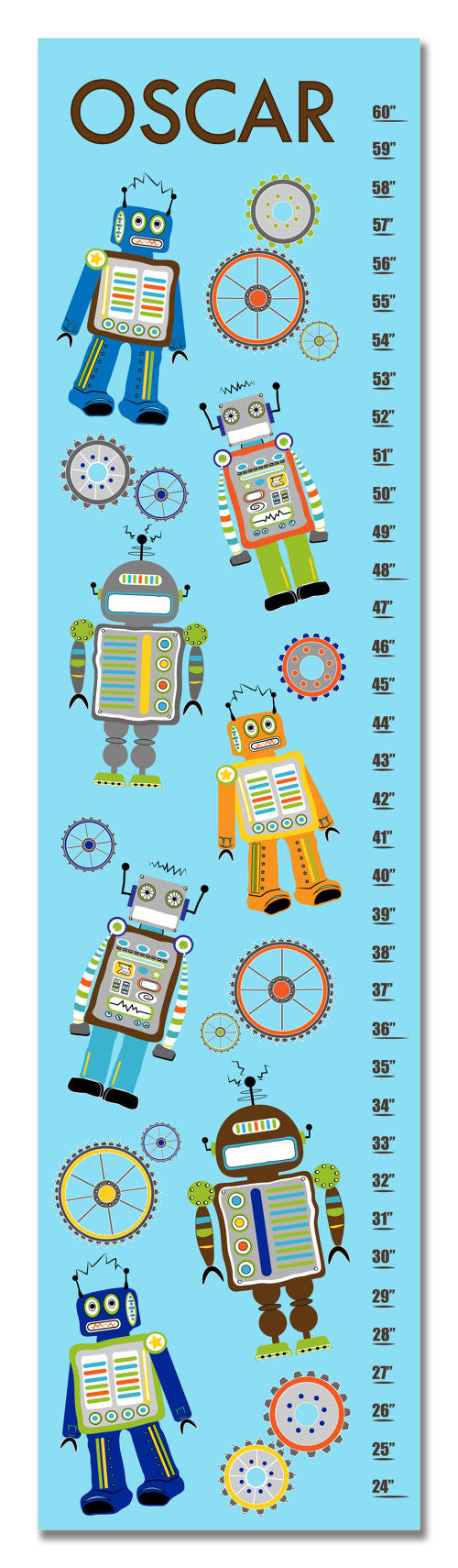 Robots and Gears Personalized Growth Chart