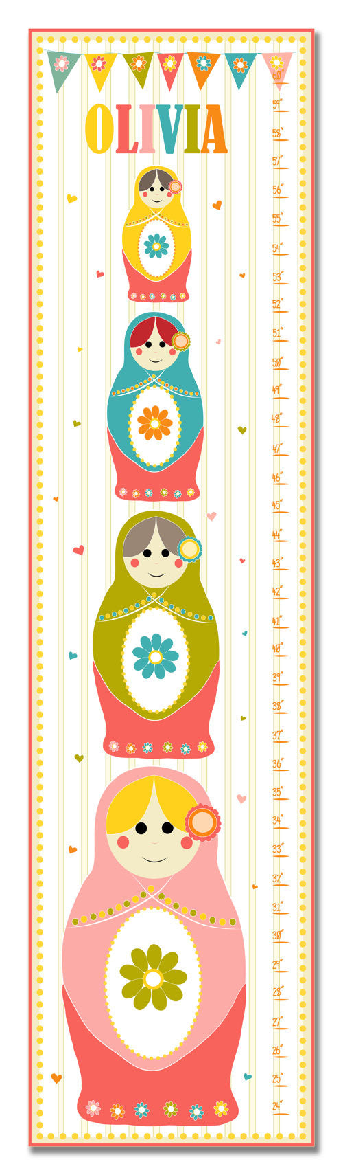 Nesting Dolls Personalized Growth Chart