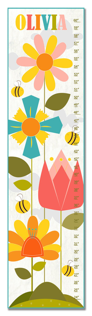 Flower Garden Personalized Growth Chart