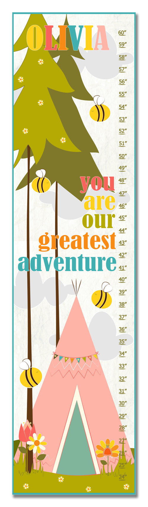 Greatest Adventure Personalized Growth Chart