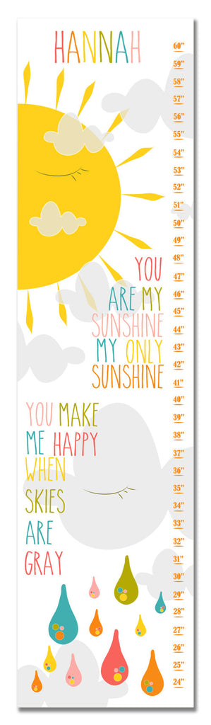 Sunshine, Sun & Moon Personalized Growth Chart