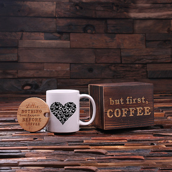 But First, Coffee Heart Coffee Gift Set - Premier Home & Gifts