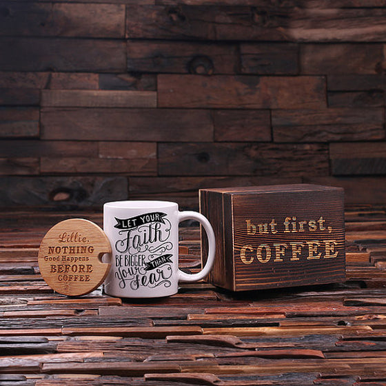 But First, Coffee Faith Coffee Gift Set - Premier Home & Gifts