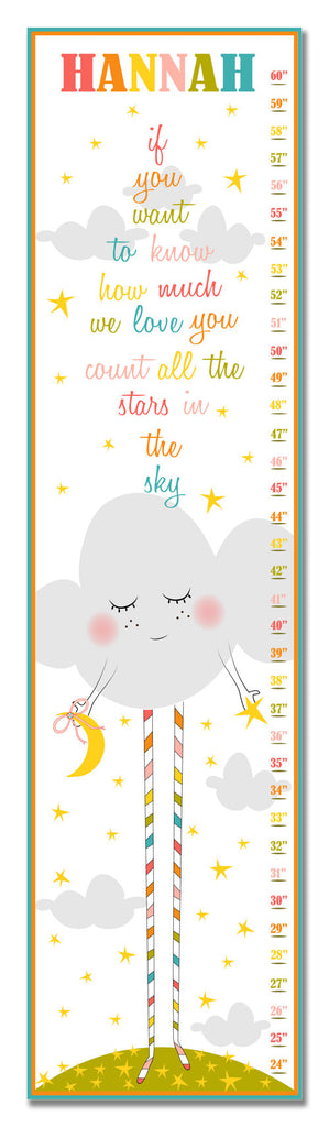 How Much We Love You Personalized Growth Chart - Nursery Decor - Baby Gifts