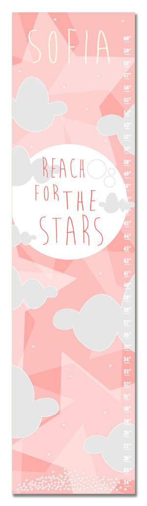 Reach for the Stars Personalized Growth Chart - Nursery Decor